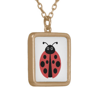 Cute Ladybug Gold Plated Necklace