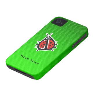 Cute Ladybug; Green iPhone 4 Case