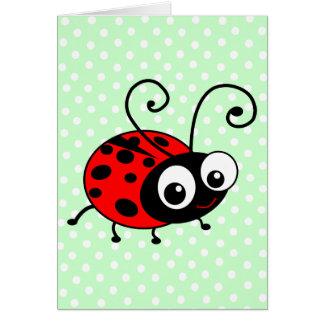 Cute Ladybug Greeting Card