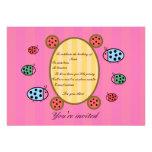 Cute ladybug invitation