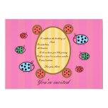 Cute ladybug invitation 13 cm x 18 cm invitation card