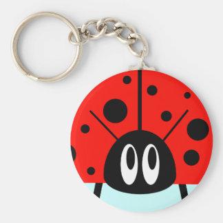 Cute Ladybug Key Ring
