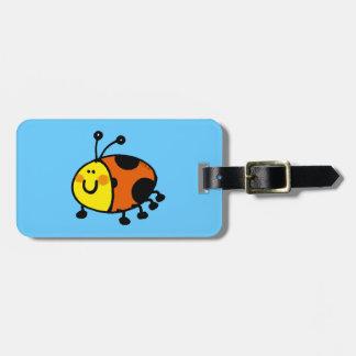cute ladybug travel bag tags
