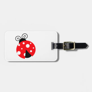 Cute Ladybug Luggage Tag