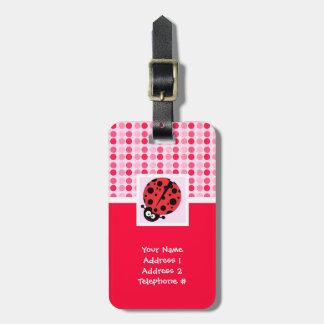 Cute Ladybug Luggage Tags