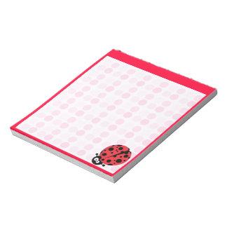 Cute Ladybug Notepad