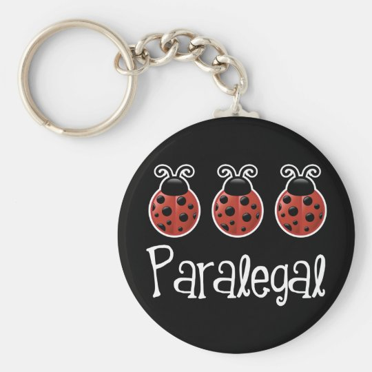 Cute Ladybug Paralegal Gift Basic Round Button Key Ring