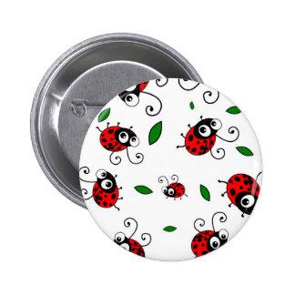 Cute ladybug pattern 6 cm round badge