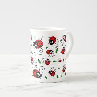 Cute ladybug pattern bone china mug