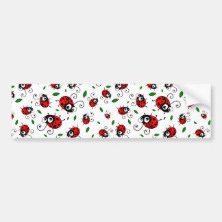 Cute ladybug pattern bumper stickers