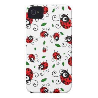 Cute ladybug pattern iPhone 4 cover