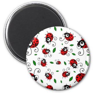 Cute ladybug pattern magnet