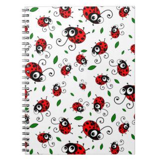 Cute ladybug pattern notebook