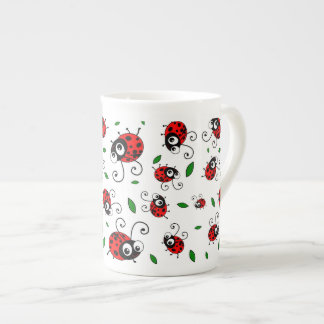 Cute ladybug pattern porcelain mugs