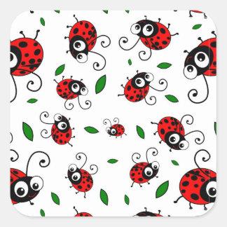 Cute ladybug pattern stickers