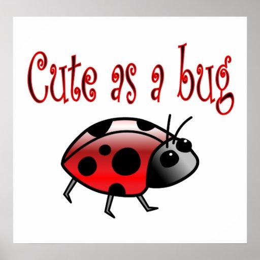 Cute Ladybug Poster