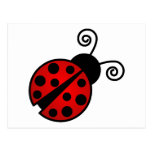 Cute Ladybug - Red and Black Postcard