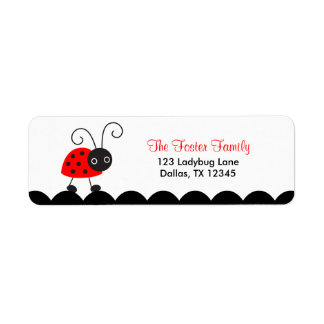 Cute Ladybug Return Address Labels