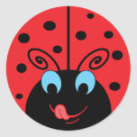 Cute Ladybug Round Sticker