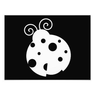 Cute Ladybug Silhouette Photo Print