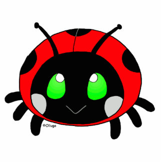 cute ladybug standing photo sculpture