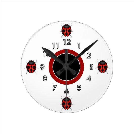 Cute Ladybug Wall Clocks