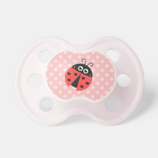 Cute ladybug with black hearts and pink polka dots dummy
