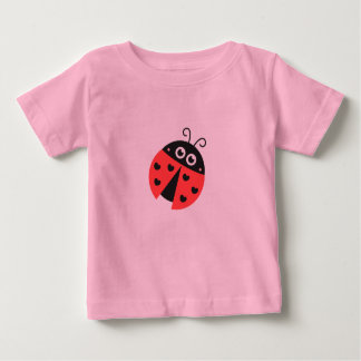 Cute ladybug with black hearts in place of spots baby T-Shirt