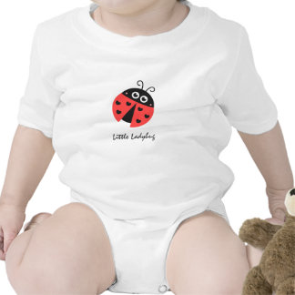 Cute ladybug with black hearts in place of spots baby bodysuits