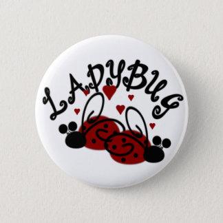 Cute Ladybugs 6 Cm Round Badge