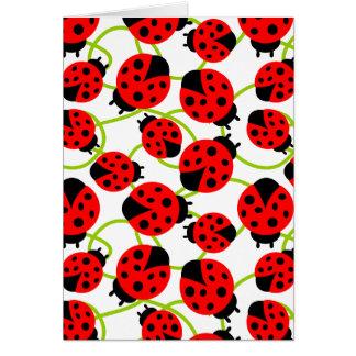 Cute Ladybugs Card