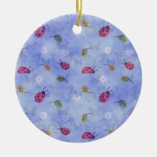 Cute Ladybugs Christmas Ornament