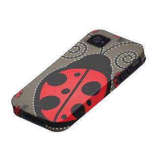 Cute Ladybugs iPhone 4 Case-Mate Tough Case-Mate iPhone 4 Case
