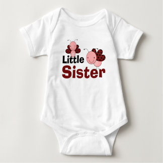 Cute Ladybugs Little Sister Baby Bodysuit