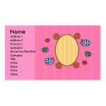 Cute ladybugs on pink pack of standard business cards