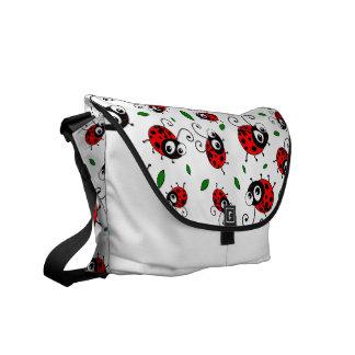 Cute ladybugs pattern bag courier bag