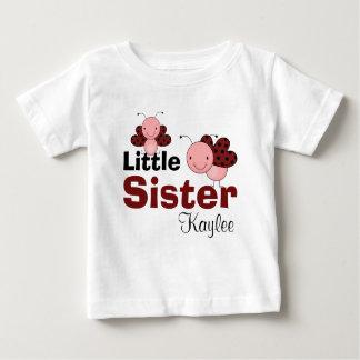 Cute Ladybugs Personalized Little Sister Tshirt