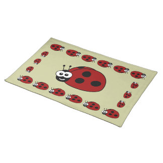 Cute Ladybugs Placemat