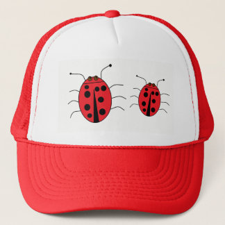 Cute Ladybugs Red Trucker Hat