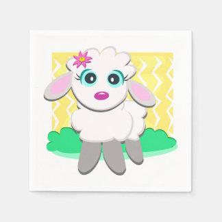 Cute Lamb Paper Napkins Paper Napkin