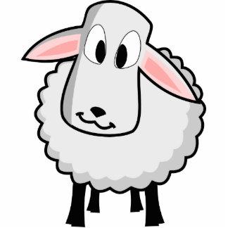 Cute Lamb Photo Sculpture Badge
