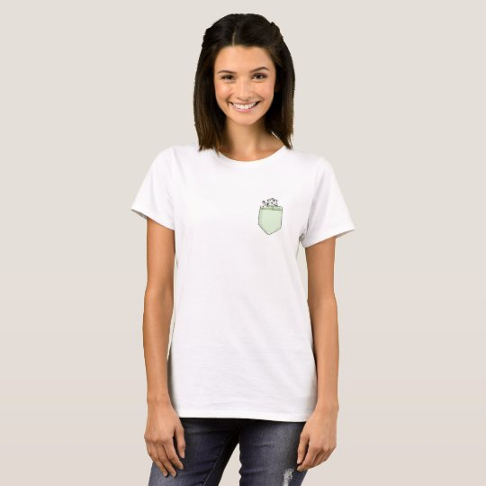 Cute Land Manatee (COW) Pocket T-shirt