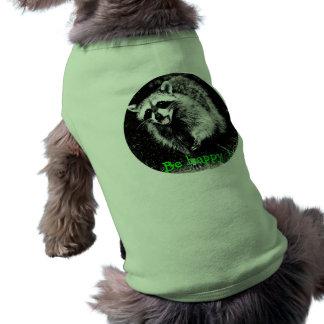 Cute laughing  raccoon on dog sweater sleeveless dog shirt