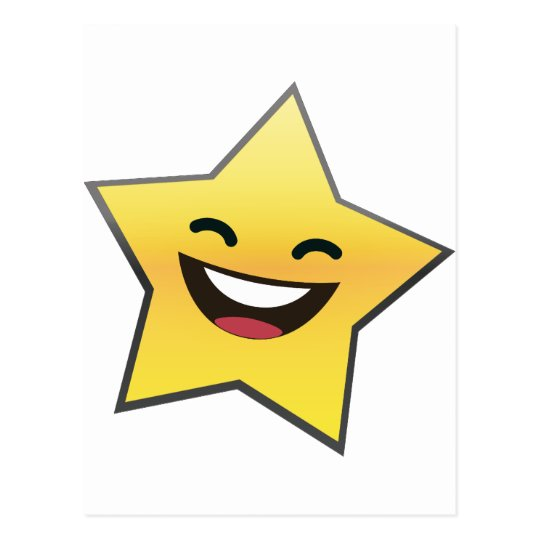 Cute Laughing Smiling Star Power Postcard