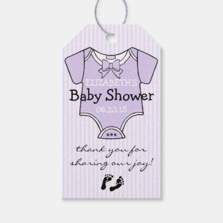 Cute Lavender Baby Shower Guest Favor- Thank You