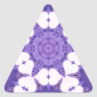 Cute Lavender Heart Abstract Triangle Sticker