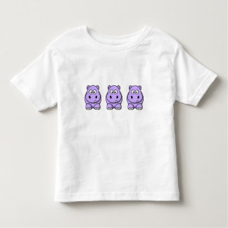 Cute Lavender Hippo Toddler T-Shirt