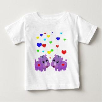 Cute Lavender Rhino Rainbow Heart Rhinoceros GLBT Baby T-Shirt