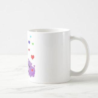 Cute Lavender Rhino Rainbow Heart Rhinoceros GLBT Coffee Mugs