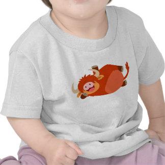Cute  Lazy Cartoon Highland Cow Baby T-Shirt